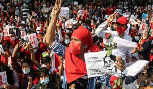 Kudeta Militer di Myanmar, Inggris dan Uni Eropa Ajukan Draf Resolusi ke Dewan HAM PBB