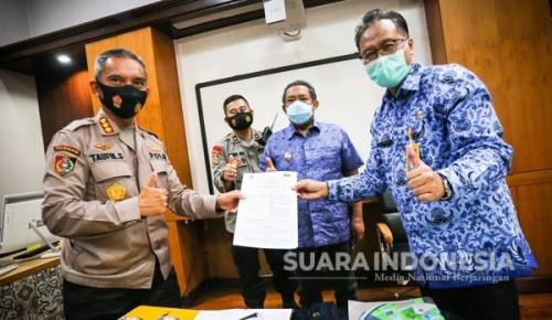 Tingkatkan SDM Yang Baik, Pemkot Bandung Teken kerjasama Dengan Pusdikmin Lemdiklat Polri