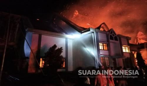 Gereja GMIH  Imanuel Gamsungi di Halmahera Utara Ludes Terbakar