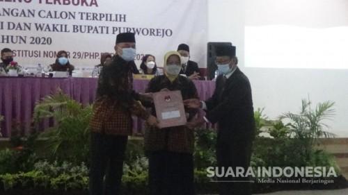KPU Purworejo Tetapkan Bayu Sebagai Bupati dan Wakil Bupati Purworejo