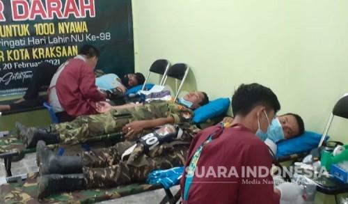 Kader Ansor Kraksaan Probolinggo Ramai-Ramai Donorkan Darah