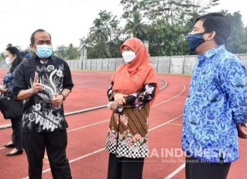 DPRD Jabar Kunjungi Disbudpora Ciamis, Komisi V: Masih Ada PR Finishing Lintasan Atletik