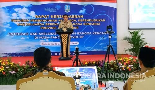 Perkuat Program Bangga Kencana 2021, BKKBN Jatim Gelar Rakerda