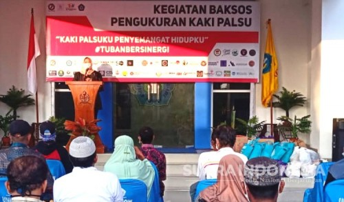Unirow Bersama Tuban Humanity Gelar Baksos Pengadaan Kaki Palsu
