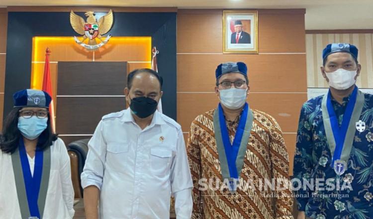 Wamendes PDTT Ajak Kader GMKI Bangun Desa