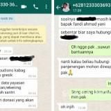 Penipuan Berkedok Bantuan dari Bupati Gresik Terpilih Beredar Lewat WhatsApp