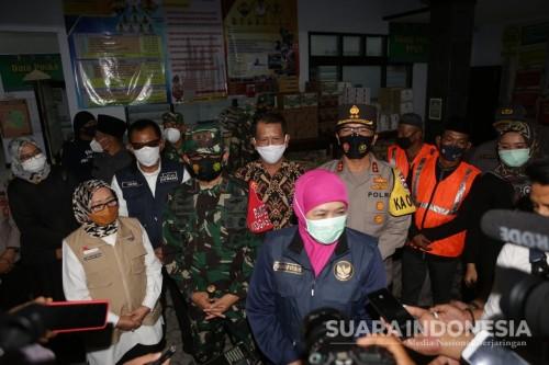 Maksimalkan PPKM Mikro, Forkopimda Jatim Kunjungi Posko Satgas Covid-19 di Jombang