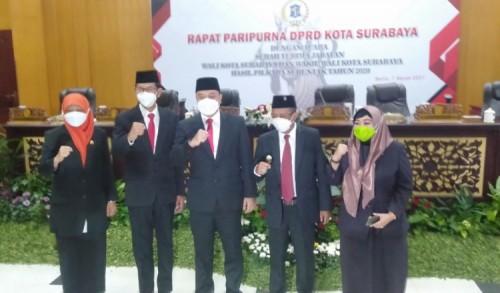 Sertijab Wali Kota Surabaya, Eri-Armudji Diminta Wujudkan Visi Misi saat Kampanye
