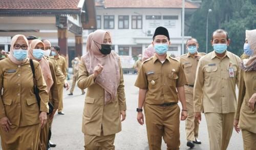 Apel Perdana, Ikfina Fahmawati Ajak ASN Kerja Cepat Berkualitas