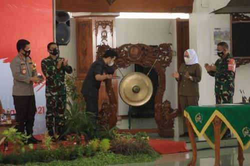 Forkopimda Jatim Membuka TMMD ke -110 Di Bojonegoro