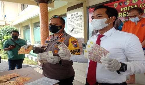 Polresta Banyuwangi Bekuk Seorang Tersangka Pemilik Cetakan Uang Asing Palsu