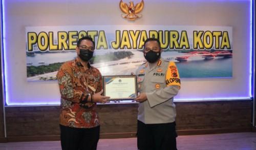 Raih KPKNL Award 2021, Kapolresta Jayapura: Ini Sebagai Motivasi Untuk Bekerja Lebih Baik