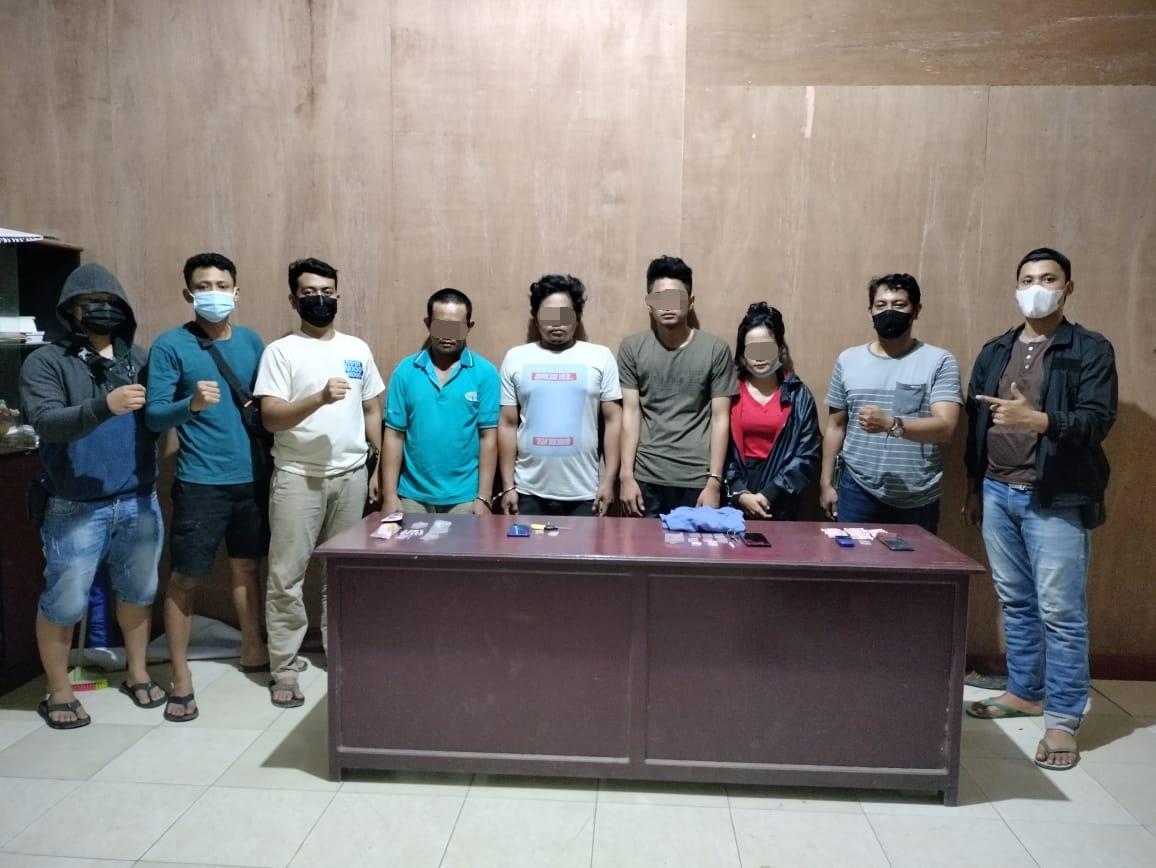 Bersih-bersih, Tim Nightmare Polsek Muara Wahau Tangkap 4 Pengedar Narkoba, Amankan 15 Poket Sabu