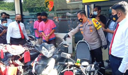 Gasak 8 Motor, Dua Pria Asal Palang Tuban Dicokok Polisi