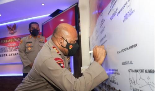 Polda Papua Minta Polresta Jayapura Implementasi ZI WBK WBBM, Bukan Dikantor Saja!