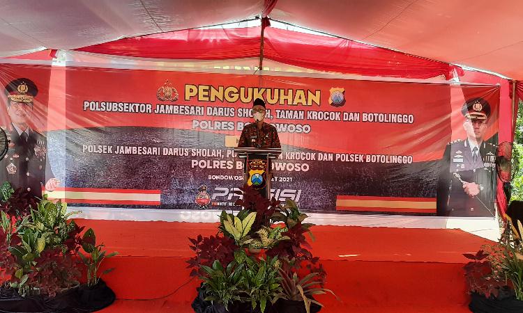 Bupati Bondowoso Tegaskan, Siap Bangun Gedung Tiga Polsubsek yang Berubah Jadi Polsek