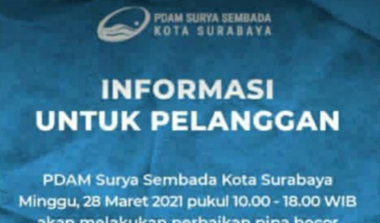 Pipa PDAM Surabaya Bocor di Jagir Wonokromo, Banyak Wilayah yang Terdampak
