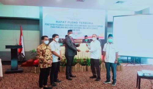 KPU Tetapkan Tauhid-Jasri Pemenang Pilkada Kota Ternate