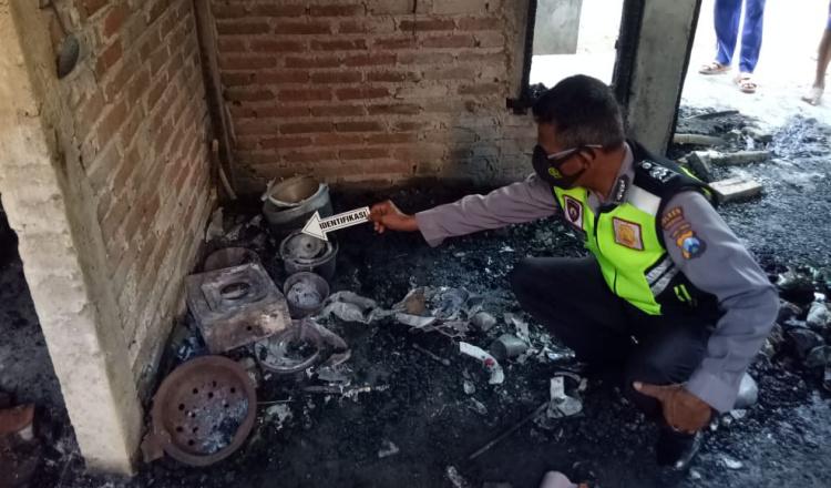 Rumah Terbakar di Ponorogo, Satu Korban Mengalami Luka Parah
