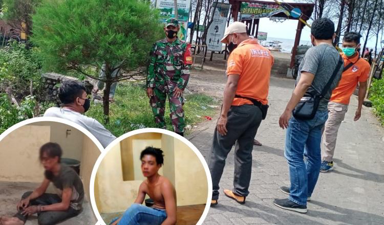 Tawuran Lempar Bondet, Dua Pemuda Ditangkap Keamanan Wisata Pantai Bahak Probolinggo