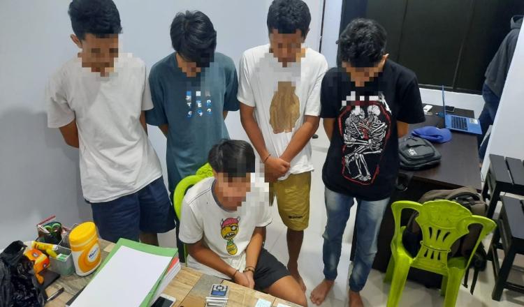 Isap Ganja di Benteng Orange, Lima Remaja Diamankan Polisi