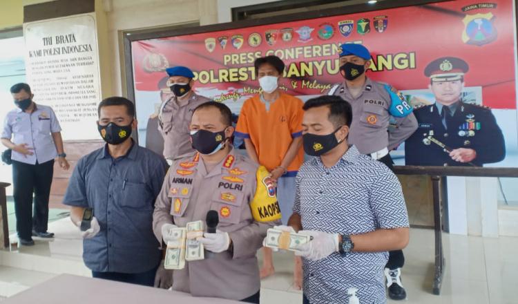 Polisi Ringkus Dalang Peredaran Uang Palsu di Banyuwangi