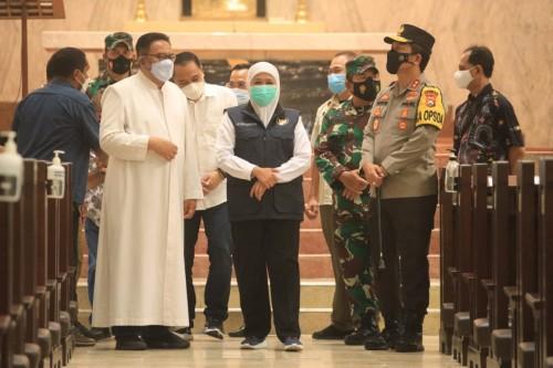 Forkopimda Jatim Cek Pengamanan Jum'at Agung Gereja Katedral Surabaya