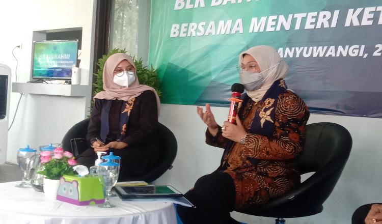 Tak Haya Pasar Kerja, Menaker Ida Dukung UMKM Naik Kelas Melalui BLK di Banyuwangi