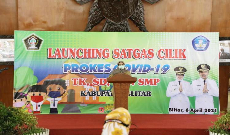 Cegah Klaster Baru, Bupati Blitar Launching Satgas Cilik Prokes COVID-19 di Sektor Pendidikan