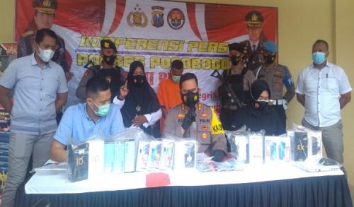 Gasak Puluhan HP di Ponorogo, Pria Asal Lampung Dibekuk Polisi