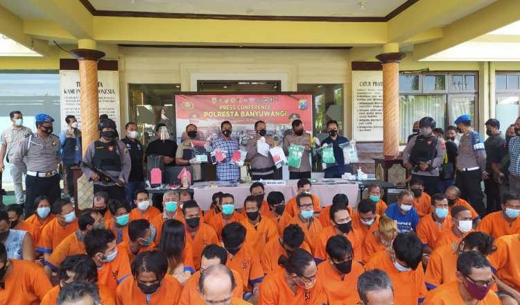 Operasi Pekat Semeru, Polresta Banyuwangi Ungkap 353 Kasus, Tertinggi Premanisme