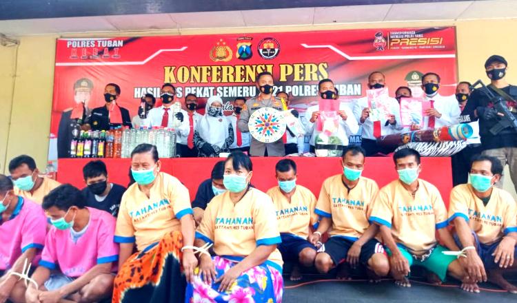 Operasi Pekat Semeru, Polres Tuban Ungkap 121 Kasus dan Jaring 131 Tersangka