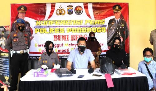Polisi Tangkap Pelajar Pelaku Begal Payudara di Ponorogo