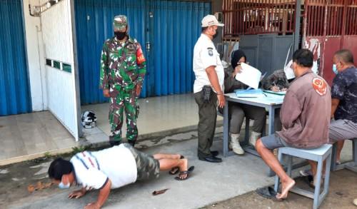 Protokol Kesehatan, Koramil 0909-01/Sangatta Gencarkan Operasi Yustisi