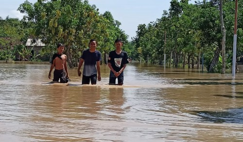Empat Kecamatan di Kabupaten Madiun Banjir, Ratusan Warga Mengungsi