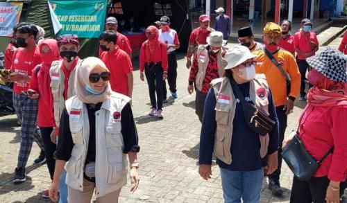 DPC PDI Perjuangan Kabupaten Malang Kembali Turunkan Baguna, Gotong Royong Bantu Korban Gempa