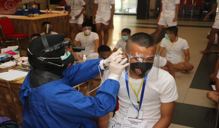 Ratusan Casis dari Polres Banjarbaru Jalani Tes di Polda Kalsel