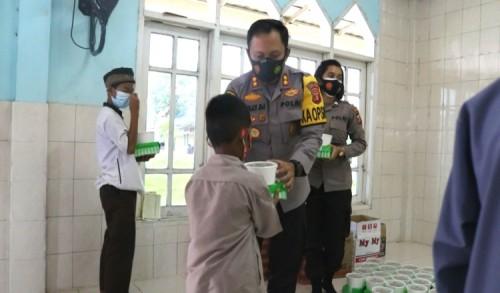 Sambangi Ponpes Hidayatullah, Kapolres Kutim Minta Pengurus Aktif Terapkan Protkes