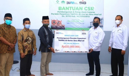 SIG Berikan Bantuan Pembangunan Ponpes Tahfidz Al-Quran di Mojokerto