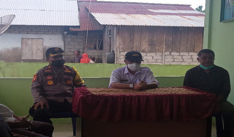 Tinjau Kesiapan PSU, Pj Bupati Halmahera Utara Kunjungi Desa Supu