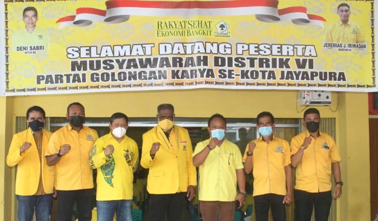 AbisaiRollo Resmi Buka Musdis Golkar Kota Jayapura