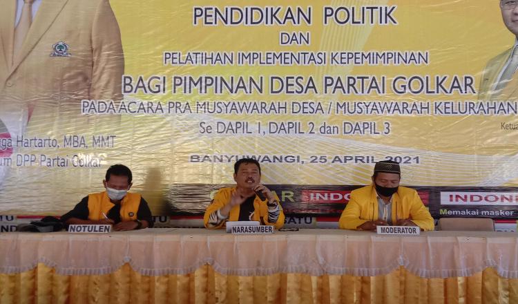 Golkar Banyuwangi Perkuat Organisasi Lewat Pendidikan Politik
