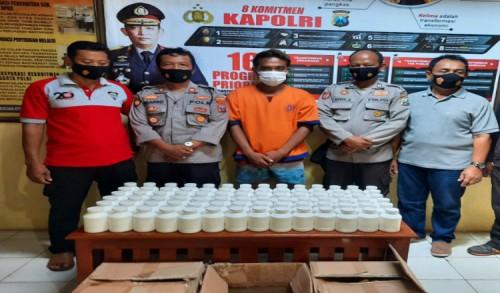 Polisi Ringkus Warga Banyuwangi Simpan 84 Kaleng Isi Pil Trex Siap Edar