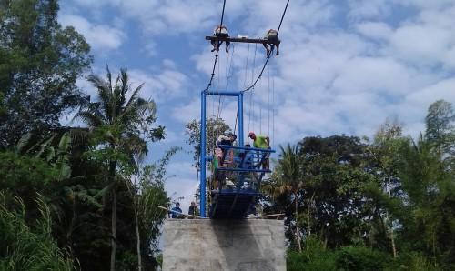 Dibangun, Jembatan Popongan-Semawung Jadi Jembatan Gantung Terpanjang di Purworejo