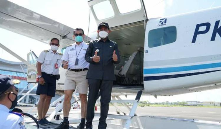 Sumenep Lakukan Uji Coba Penerbangan Pesawat Seaplane Bali-Giliyang