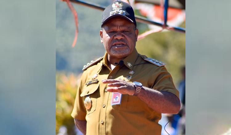 Penandatanganan NPHD Dimuka Umum, Ini Pesan Bupati Puncak Jaya