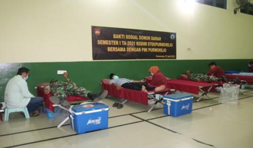 PMI dan Kodim 0708 Purworejo Selenggarakan Donor Darah di Bulan Ramadhan