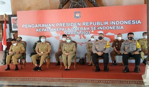 Ikuti Rapat Virtual dengan Pusat, Bupati Blitar Rini Mendapat Mandat dari Presiden Jokowi