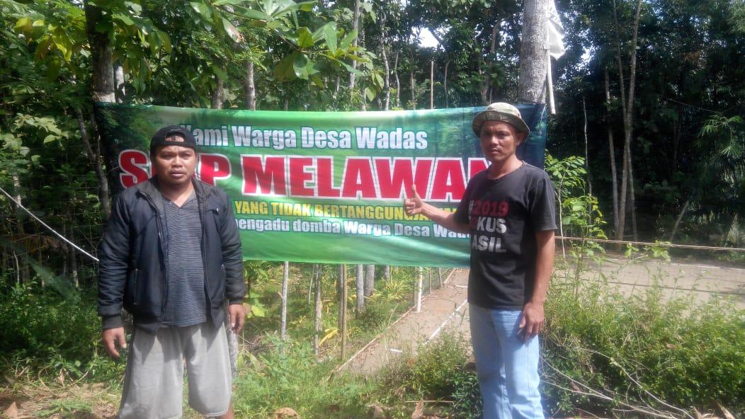 Tolak Kerusuhan, Warga Desa Wadas Purworejo Pasang Spanduk