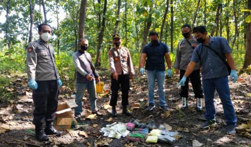 Polisi di Sampung Ponorogo, Musnahkan Puluhan Kilogram Bahan Petasan